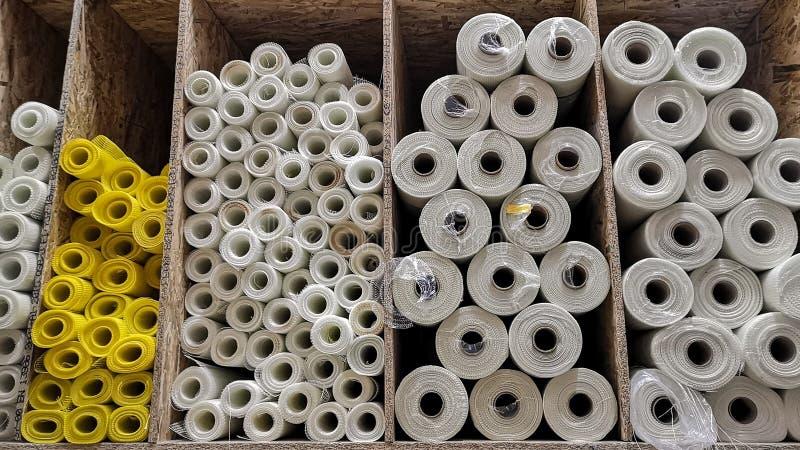 塑料定缝销钉、滤网卷门面的绝缘材料的和corne 库存图片