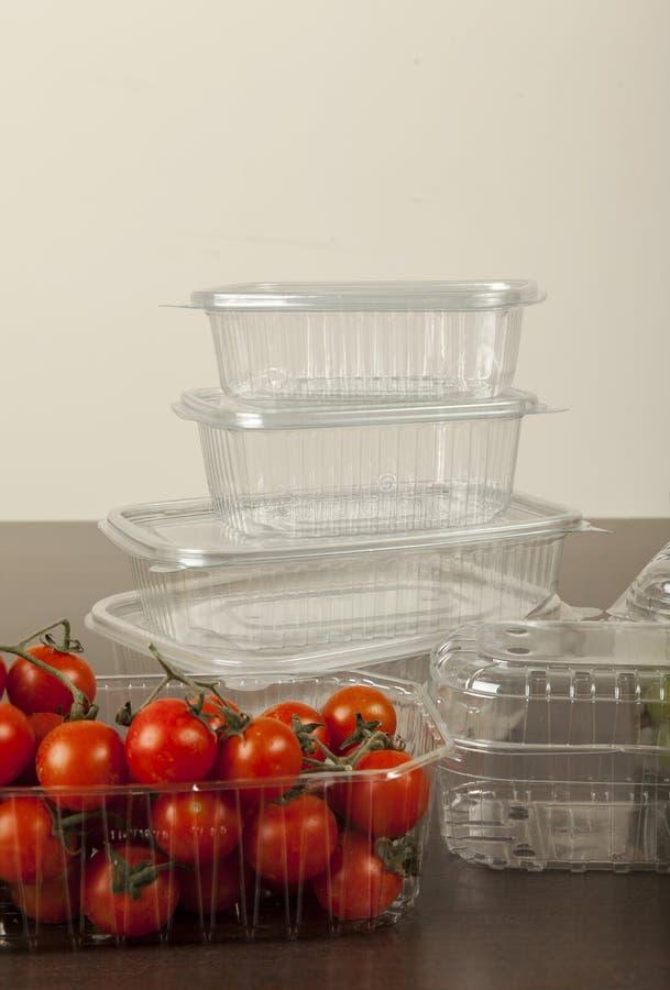 塑料封装水果和蔬菜的 免版税图库摄影