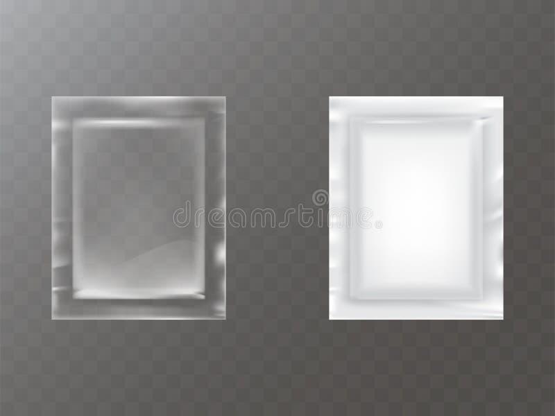 塑料小包现实传染媒介 向量例证