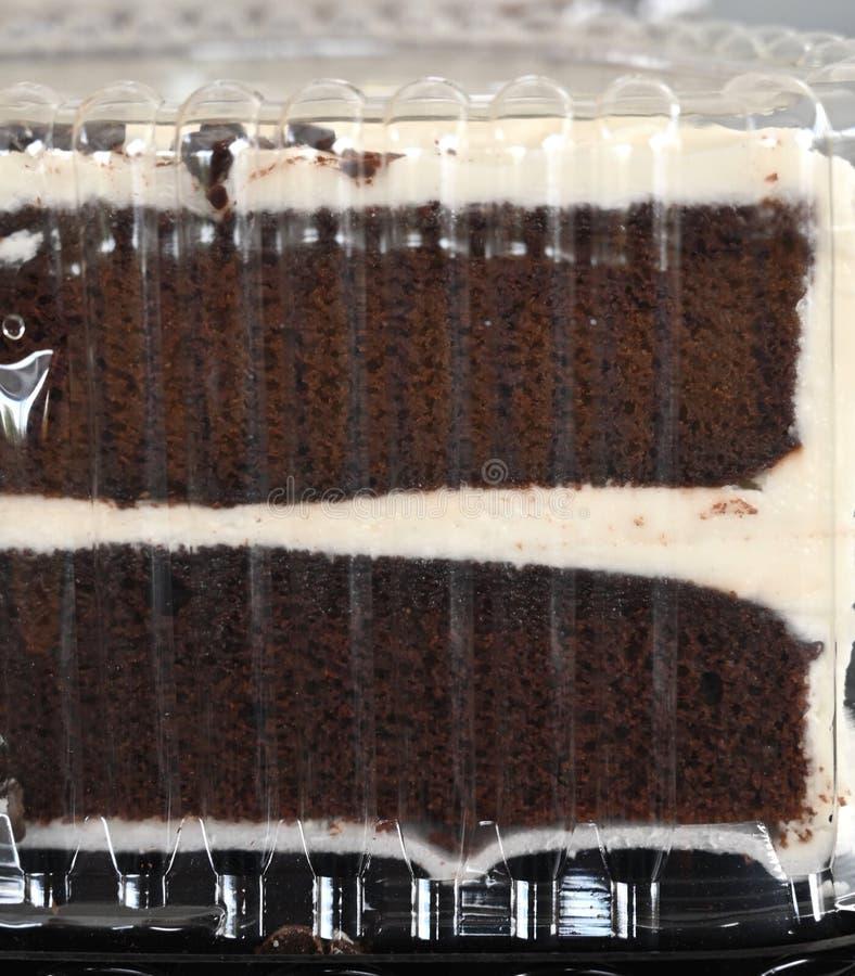 塑料巧克力蛋糕 免版税库存照片