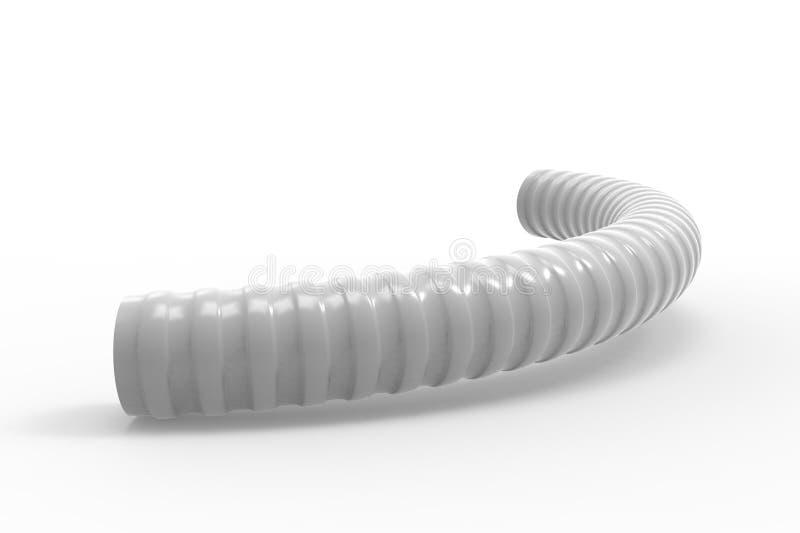 塑料有肋骨水管3d例证 皇族释放例证