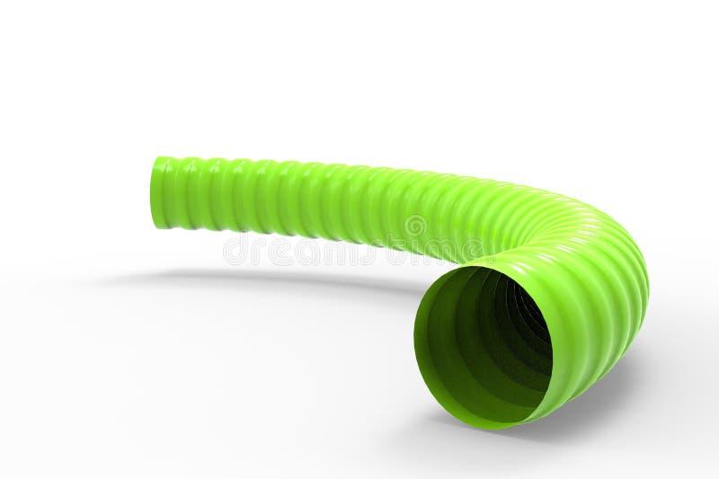 塑料有肋骨水管3d例证 库存例证