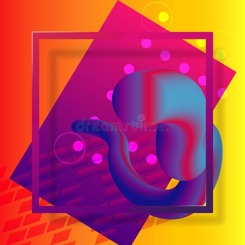 塑料框架五颜六色的形状 抽象背景 皇族释放例证