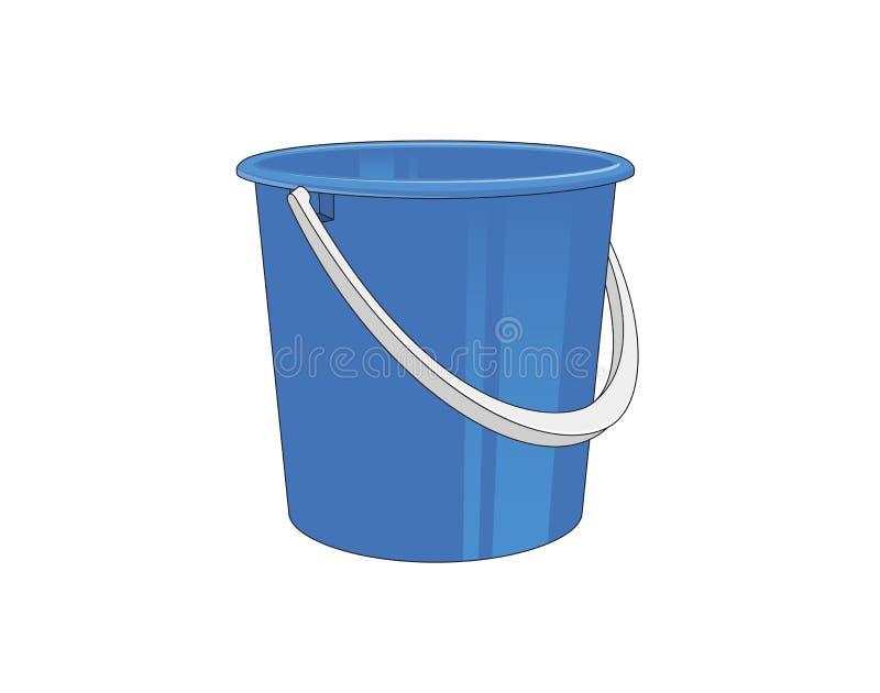 塑料桶 向量例证