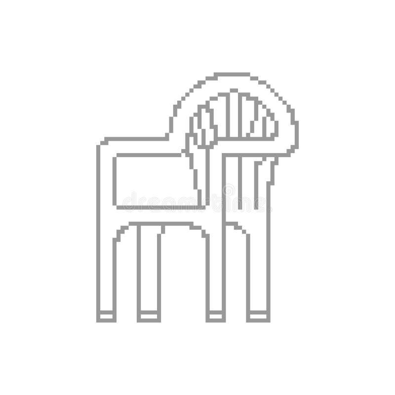 塑料椅子映象点艺术 夏天家具8位 数字式传染媒介 皇族释放例证