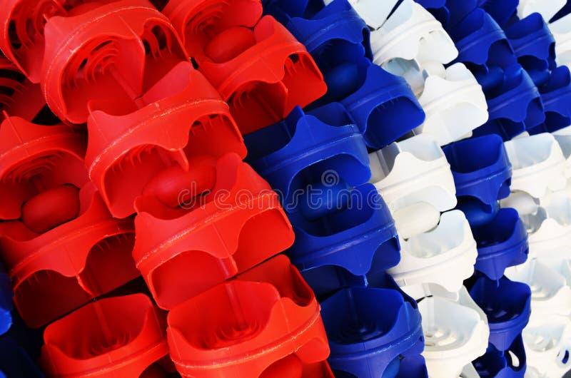 塑料水池车道绳索 库存图片