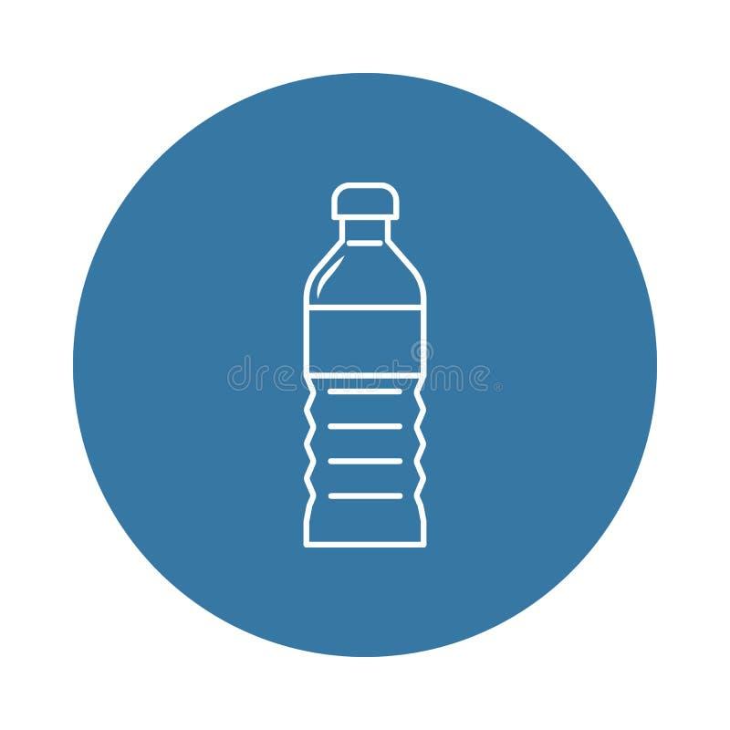 塑料油瓶象 瓶象的元素流动概念和网apps的 可以使用徽章样式塑料油瓶象 向量例证