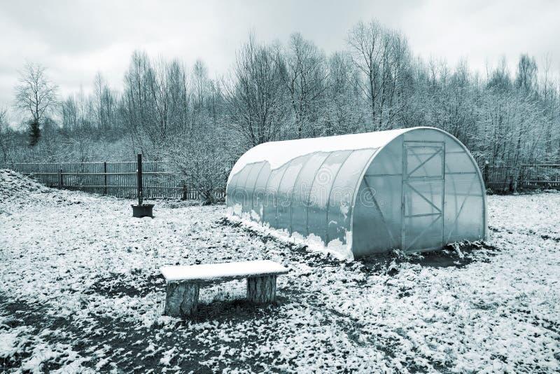 塑料温室 免版税库存图片