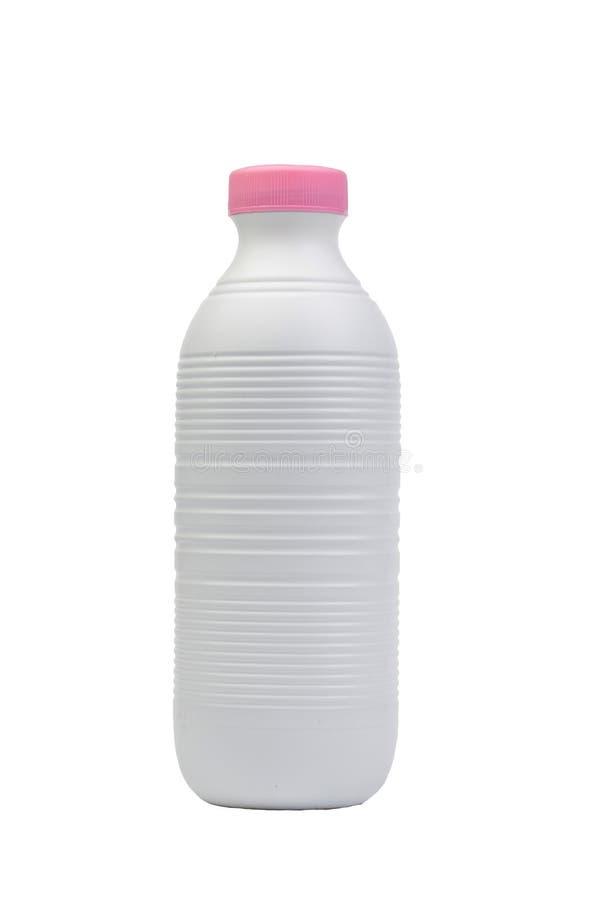 塑料牛奶瓶 图库摄影