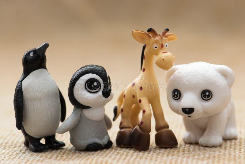 塑料玩具小雕象 库存图片