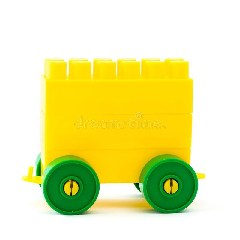 塑料玩具trailor 免版税库存图片