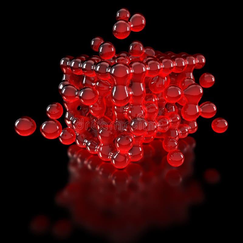 塑料球在群体动力学过程中 皇族释放例证
