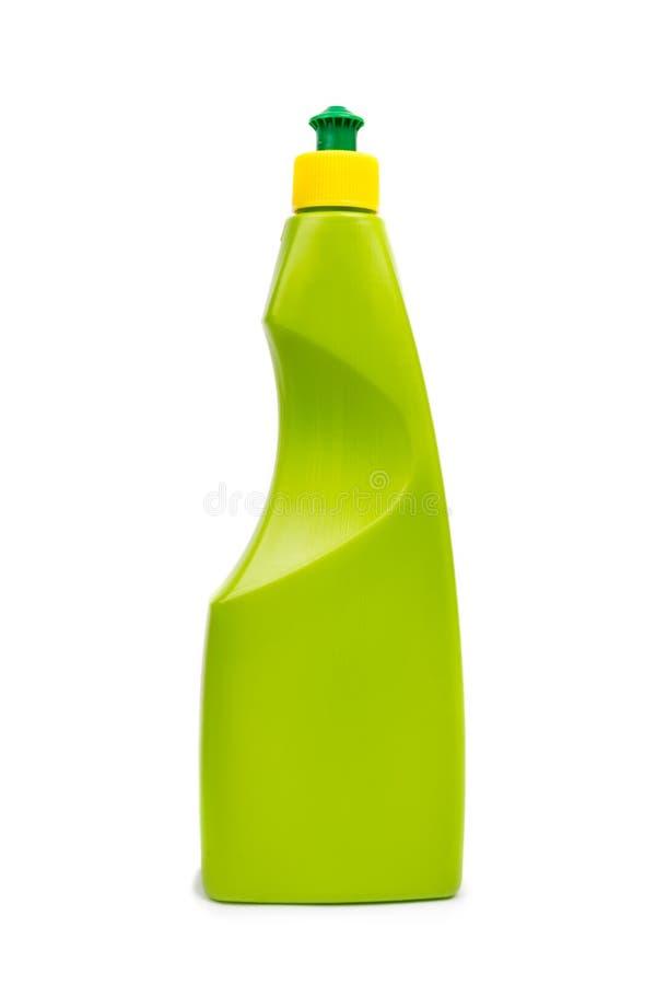 塑料瓶清洁产品 库存照片