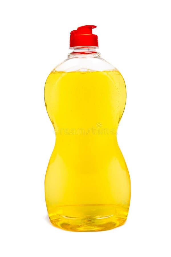 塑料瓶清洁产品 图库摄影