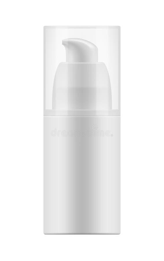 塑料瓶现实空白的模板  库存例证