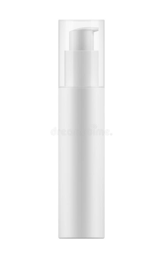 塑料瓶现实空白的模板  向量例证
