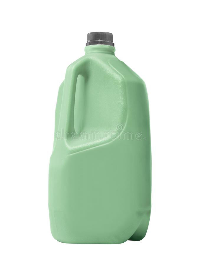 塑料瓶被隔绝的清洁产品 免版税库存图片