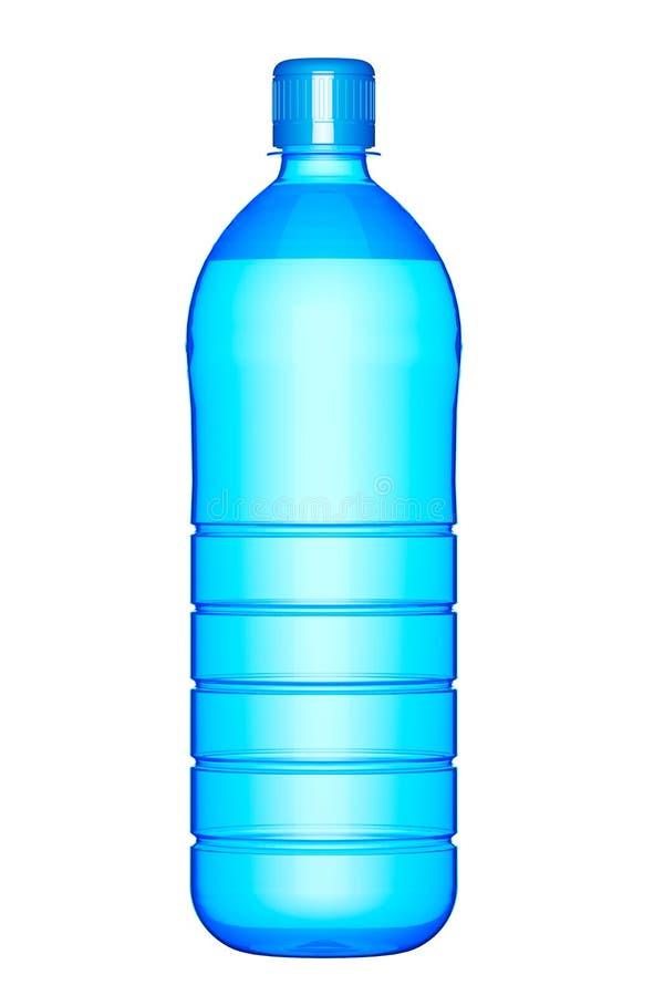 塑料瓶饮用水 向量例证