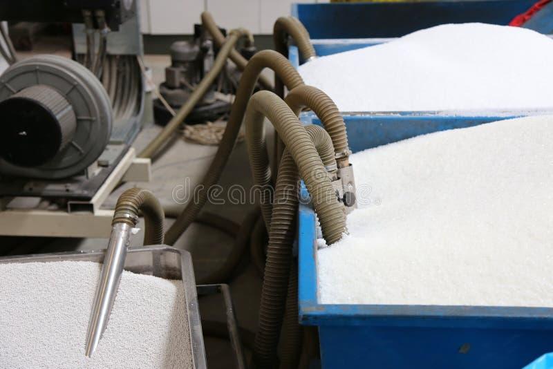 塑料生态-工业制造业机器 免版税库存照片