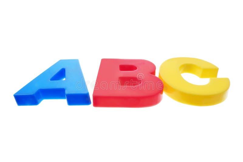 塑料的字母表 免版税库存照片