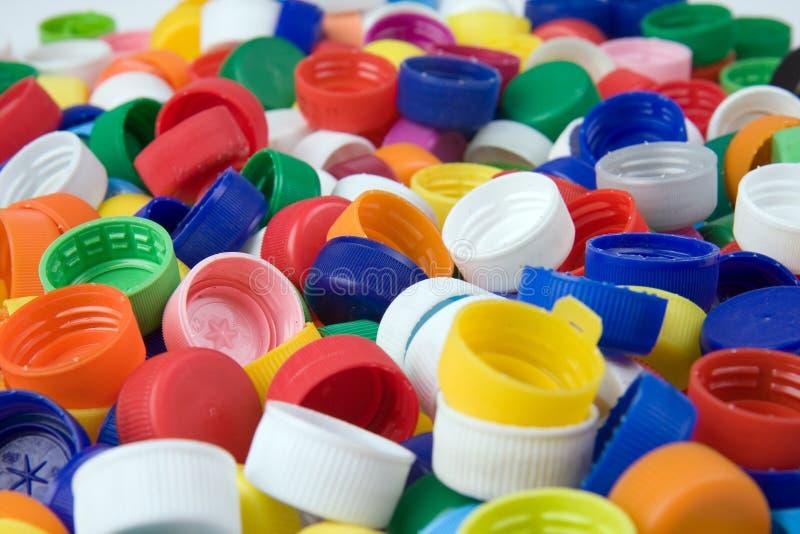 塑料的瓶盖 库存图片