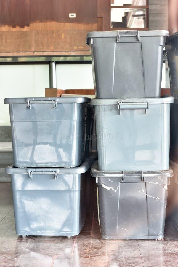 塑料盒 库存图片