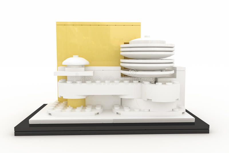 塑料砖做的古根海姆美术馆 向量例证