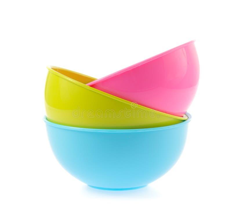 塑料碗 免版税库存图片