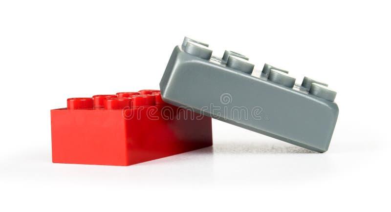 塑料积木 免版税库存照片