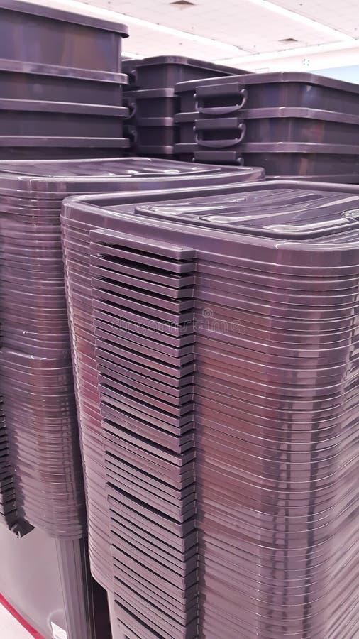 塑料筐箱子 图库摄影