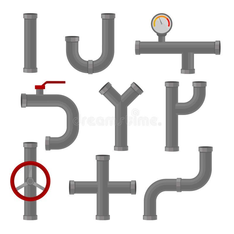 塑料管子的连接 排水设备和管道系统 皇族释放例证