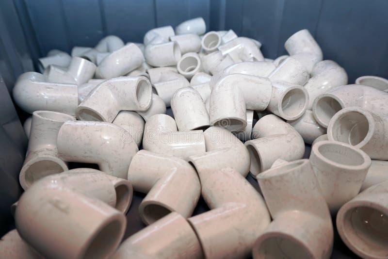 塑料管子的配件 免版税库存图片