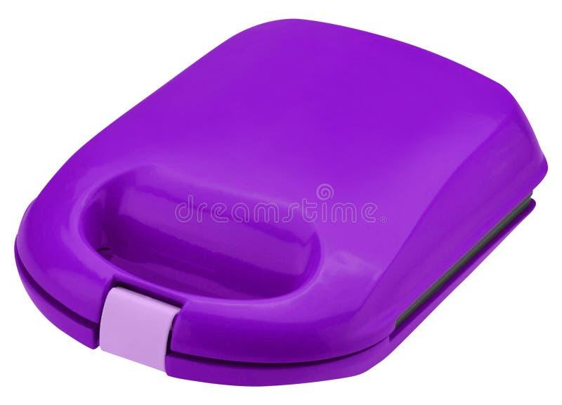 塑料紫色箱子 库存照片