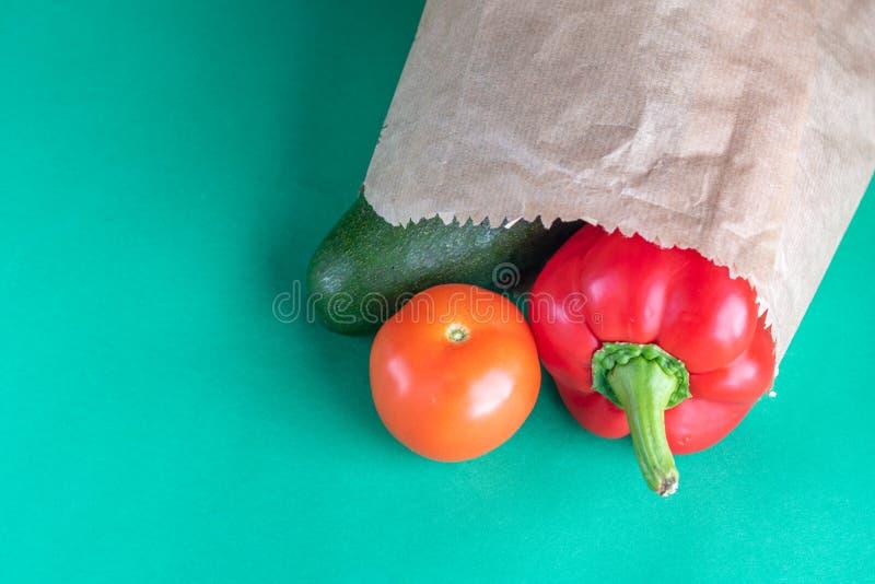 塑料自由购物 农夫有机产品 较不塑料 图库摄影