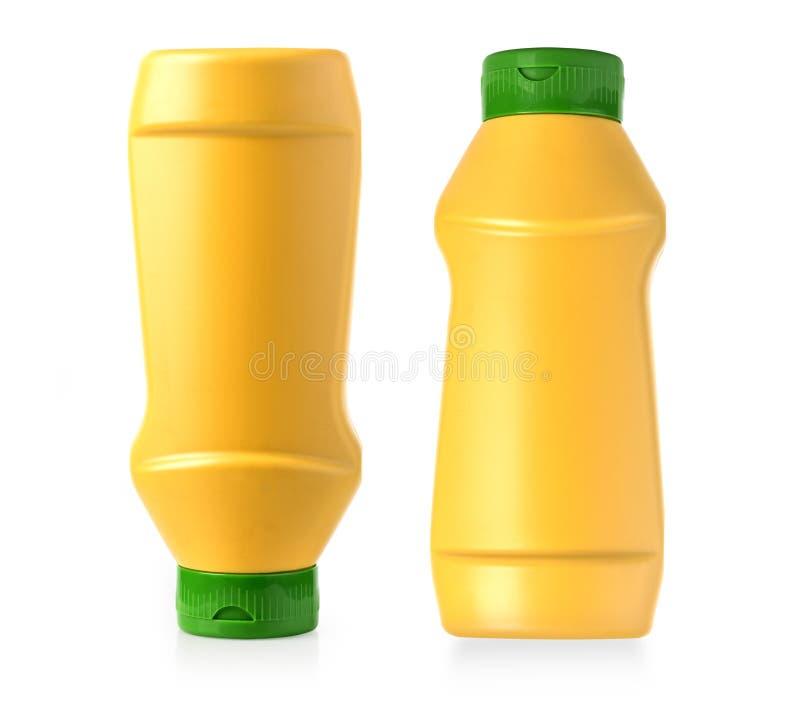 塑料芥末瓶 库存照片