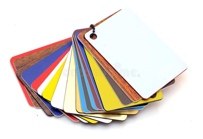 塑料范例样片  免版税库存图片