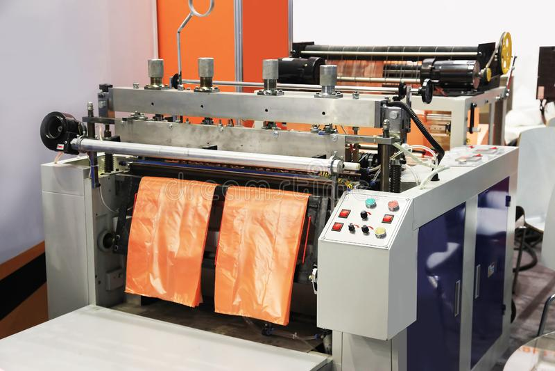 塑料袋的生产 库存图片