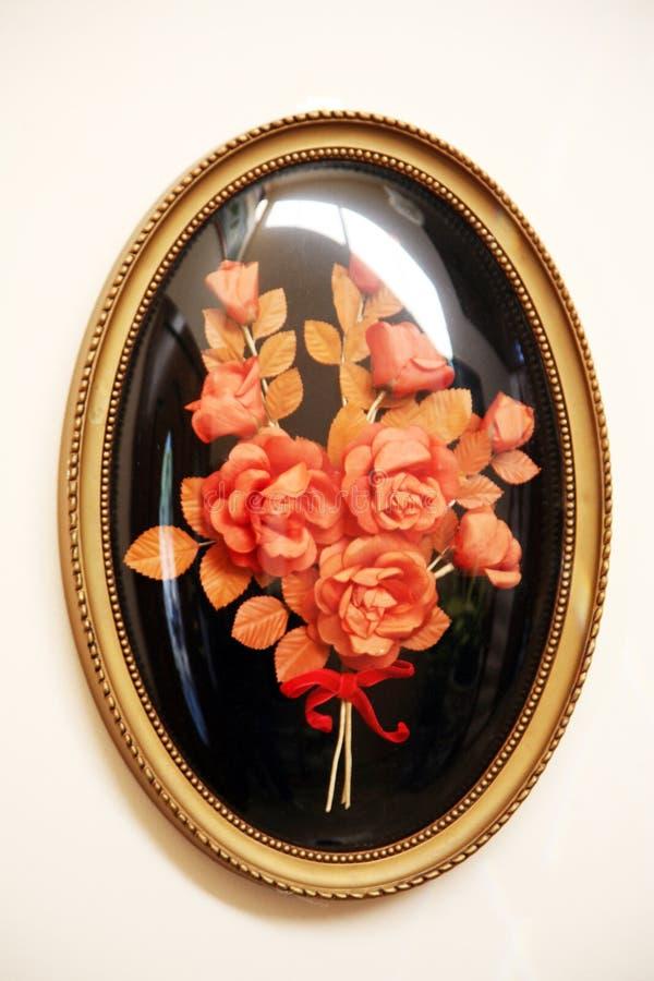 塑料装饰的花 库存图片