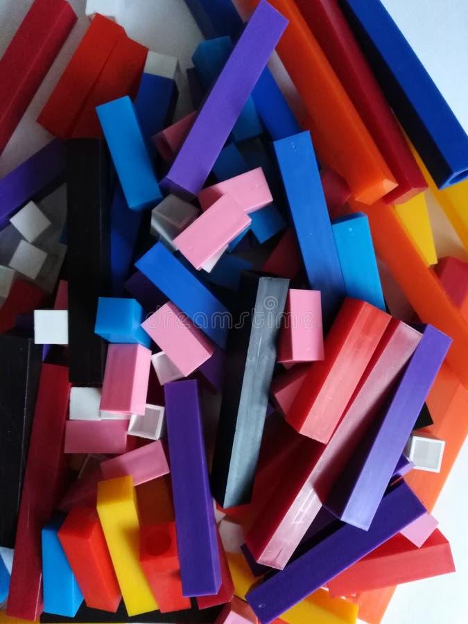 塑料计数的棍子 免版税图库摄影