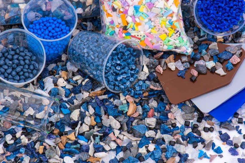塑料重磨与样品 库存图片
