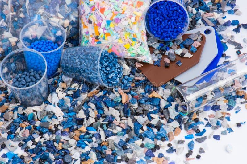 塑料重磨与样品 库存照片