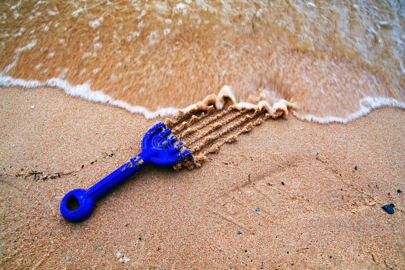塑料铁锹玩具 库存图片