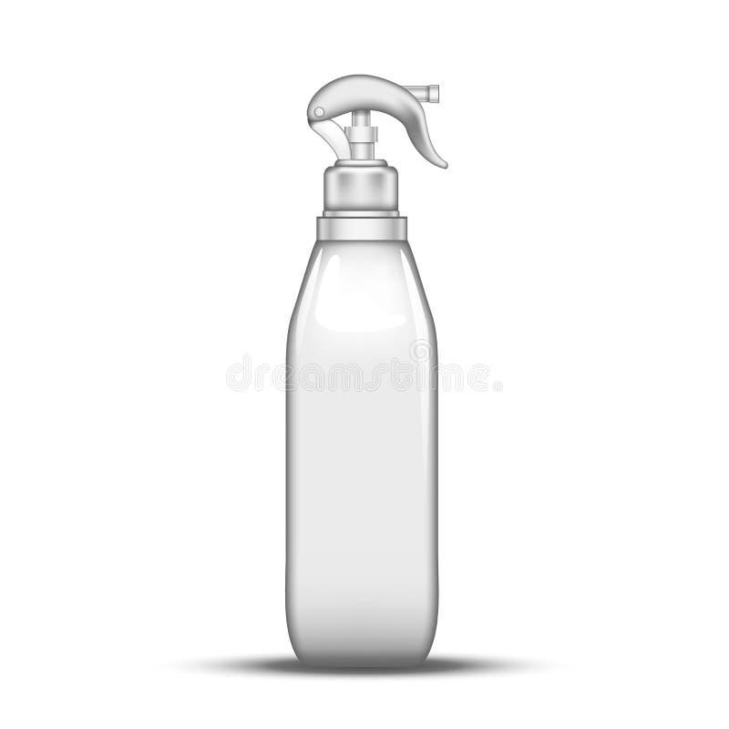 塑料雾化器瓶粉化水传染媒介 皇族释放例证