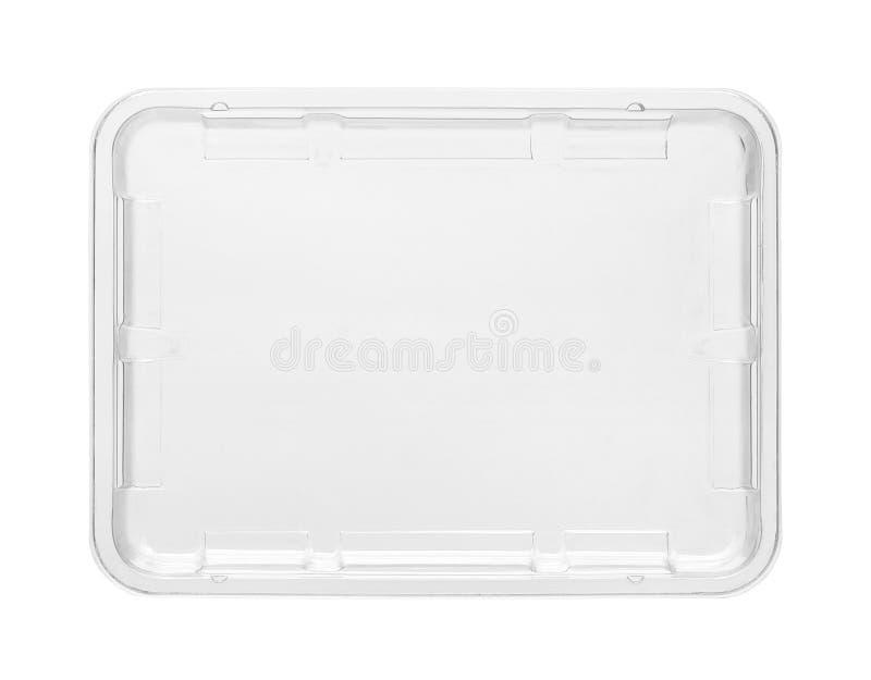 塑料食物盘子 库存图片