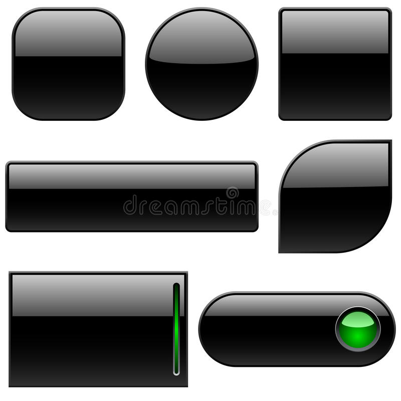 塑料黑色的按钮