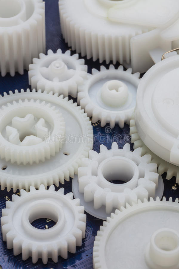 塑料齿轮 库存图片