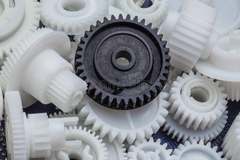 塑料齿轮 库存照片