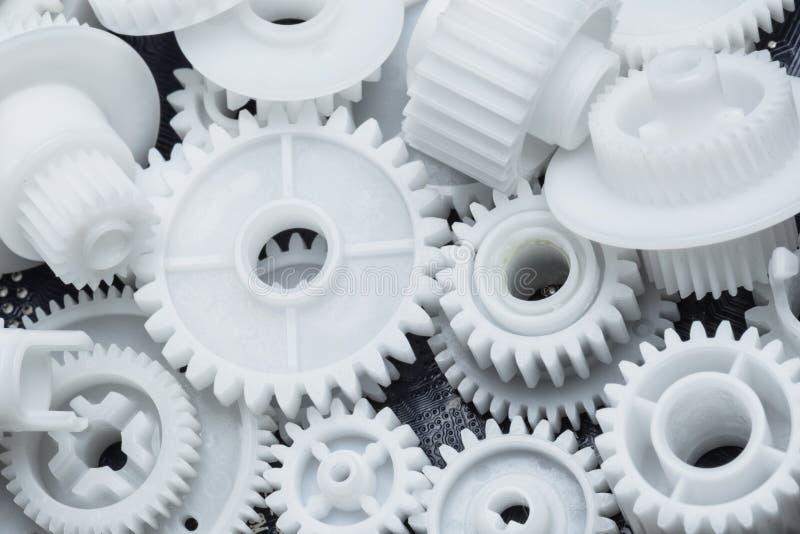塑料齿轮 免版税图库摄影