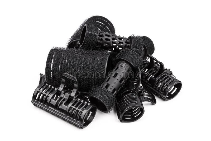 塑料黑发卷发的人 免版税库存图片