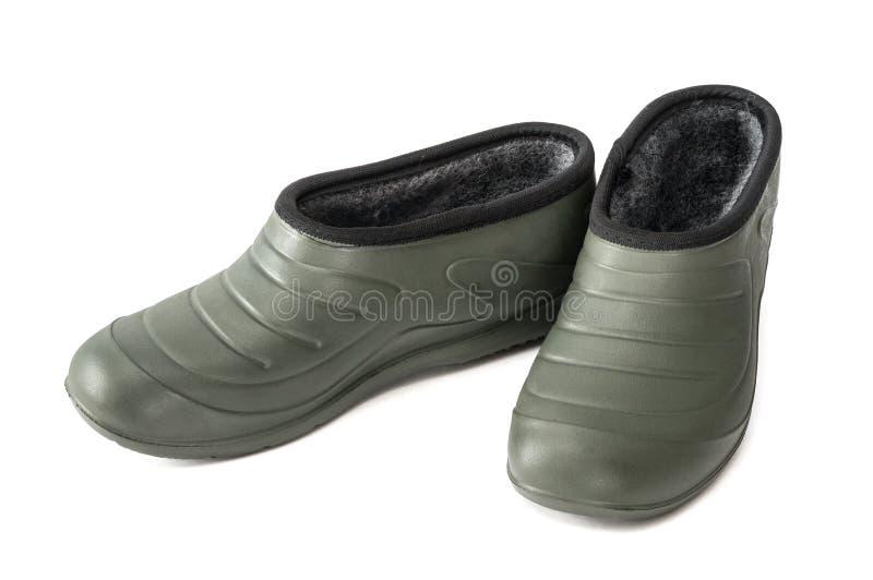 塑胶套鞋 库存图片